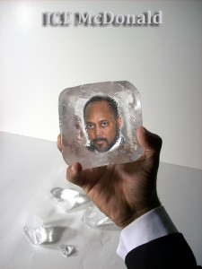 Ice block face72